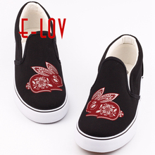 Unique Chinese Style 12 Symbolic Animals Printed Canvas Shoes Unisex Couples Casual Loafers Shoe(China)
