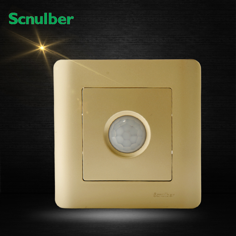86mm luxury champagne induction human body detector PIR sensor switch<br><br>Aliexpress