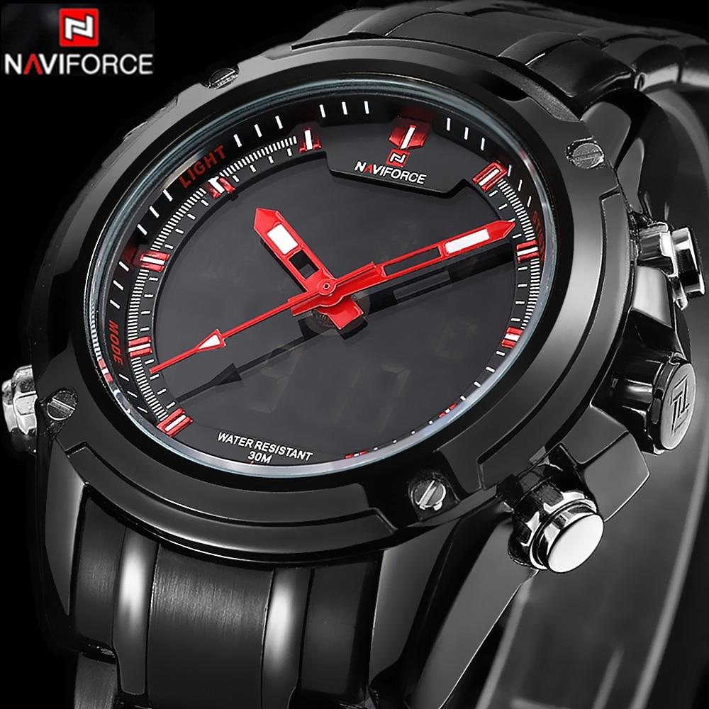 2016 Men Watches Luxury Brand Mens Quartz Hour Analog Digital LED Sports Watch Men Army Military Wrist Watch Relogio Masculino<br><br>Aliexpress