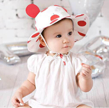Baby hats for girls boy summer white baby girl sun hats brand with ears large brim cotton spring sun hat baby girl beach caps(China)