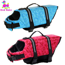 DOGBABY Dog Life Jacket Polyester Summer Pet Life Coat Puppy Dog Swimwear Life Vest Safety Clothes For Small Dogs Print Pattern