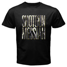 New Messiah Glam Metal Rock Band Men's Black T-Shirt Size S to 3XL Sleeve T Shirt Summer Men Tee Tops Clothing Retro(China)