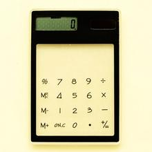 LCD 8 Digit Touch Screen Ultra slim Transparent Solar CalculatorStationery Clear Scientific Calculator Student School Office