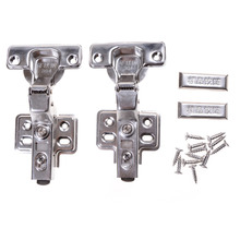 Soft Hinge Rustless Iron Hydraulic Hinge Iron Core Damper Buffer Cabinet Cupboard Door Hinges Close Furniture Hardware Wholesale