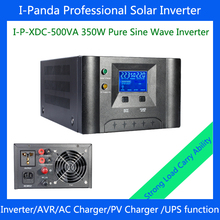 350W Pure sine wave inverter battery charger and UPS I-P-XDC-500va 12v rechargeable power supply for solar home system