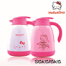 Hello Kitty cute BPA free big capacity stainless steel water jug water kettle 1500ml(China)