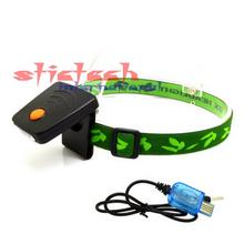 by dhl or ems 100 pieces 24Hours Runtime LED Sensor Head lamp lantern,USB Charging Mini Cap Clip HeadLight