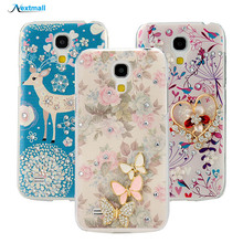 Rhinestone Case Cute 3D Lovely Luxury Butterfly Bling Diamond Crystal Hard PC Phone Back Cover For Samsung Galaxy S4 Mini I9190