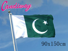 90 x 150cm   Pakistan flag Banner Hanging National flag Pakistan Home Decoration flags   NN078