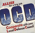 Allies for a Big Job Local Defense Council, 1942 WWII Vintage Retro Poster Decorative DIY Wall Stickers Home Posters Art Decor