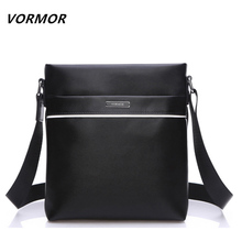 VORMOR Brand Leather Men Bag Casual Business Leather Mens Messenger Bag Vintage Men's Crossbody Bag bolsas male