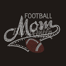 25PCS/LOT Rhinestone Motifs Football Mom Design Custom Orders are welcome(China)
