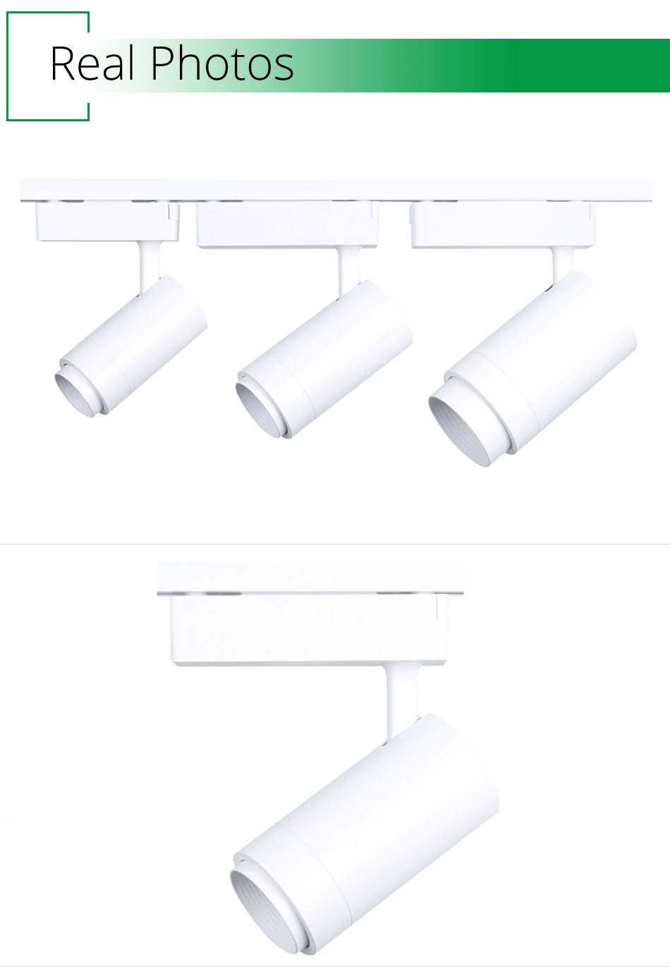 12W 20W 30W LED Track Lights 2 Wire 1Phase 3 Wire 1Phase 4 Wire 3Phase Rail For Lighting Fixtures Spotlights Track Ceiling Lamp (6)