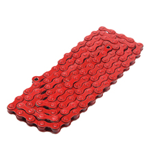 "5Colors!!! 1 Pcs C410 1/2"" X 1/8"" 96 Links bicycle chain Single Speed Colored BMX Bike Bicycle Chains with Magic Buckle(China)"