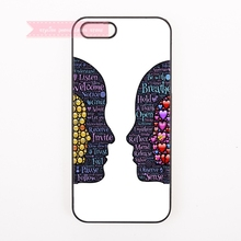 tough cover case for iphone 4 4s 5 5s 5c se 6 6S 7 Plus iPod Touch cases art many emoji Face shape symmetry awesome painting