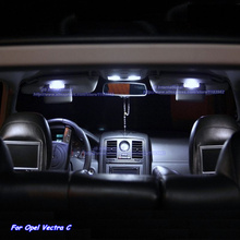 Car Canbus LED Lights Bar Kit Xenon white for Opel Vectra C OPC Parking Interior Light Car Front/Rear +Glove Box +Trunk Lamps