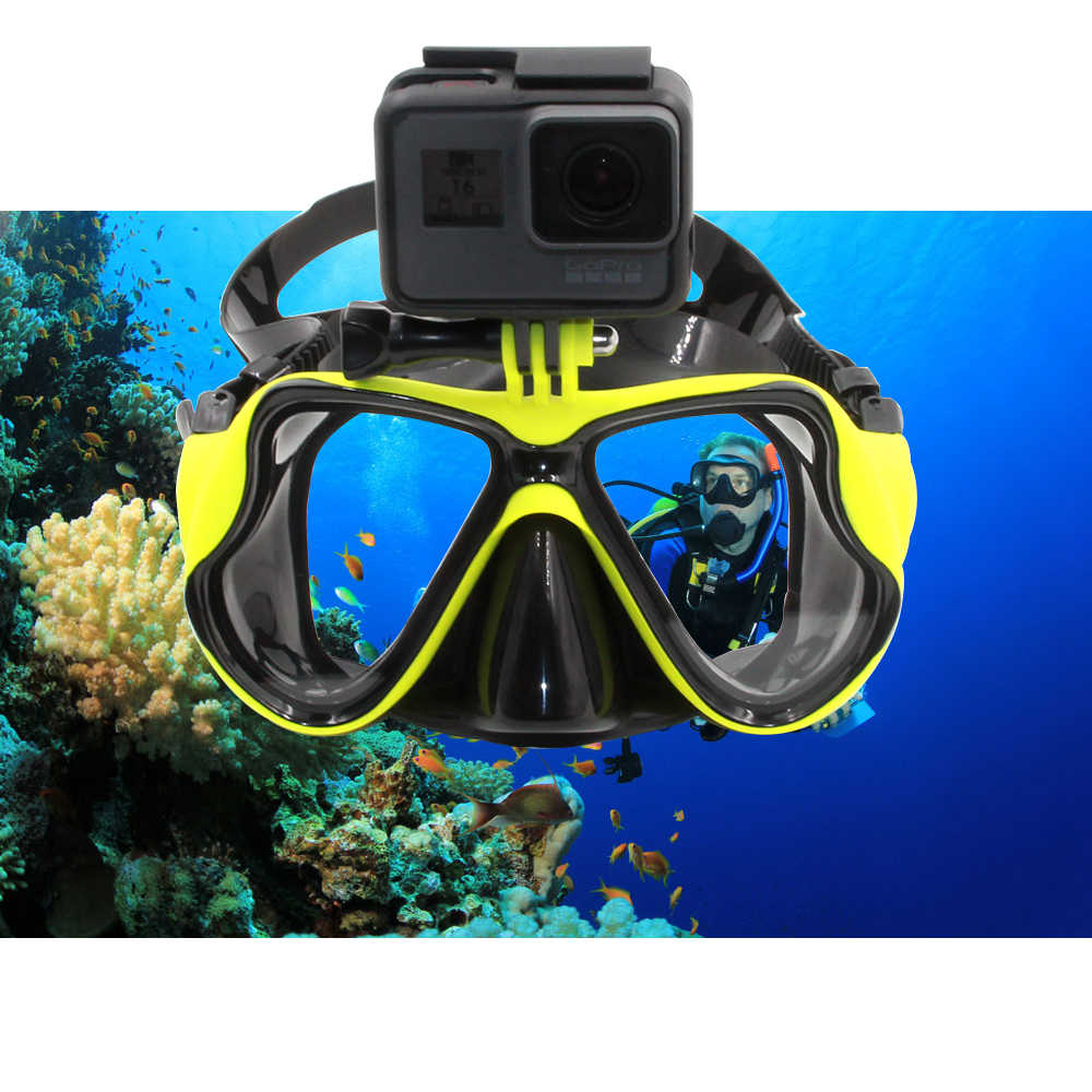 5c69e01793a New 2018 Diving Mask Professional anti fog Underwater Goggles for GoPro sea swimming  glasses Snorkel diving
