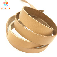 Natural 100% Genuine Leather craft cord/string/strip/lace 3/4/5/6/8/10/12/15/20/25mm Jewellery pet bracelet free shipping 4m(China)