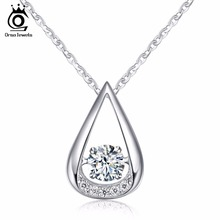 ORSA JEWELS 100% 925 Sterling Silver Pendants Necklaces for Charm Lady's Wedding&Engagement Fashion Women's Jewelry SN40