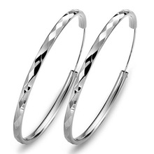 925 sterling silver hoop earring for women large size have 40 45 50 55 60mm luxury design good quality vintage wedding jewelry