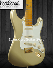 guitars Custom Shop Gold plated parts Gold Pink 60 anniversary  stratocaster Electric Guitar OEM Customizable exclusive LOGO