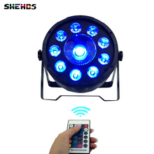 Wireless remote control LED Par 9x10W+30W RGB 3N1 LED Wash Light Stage Uplighting No Noise Remote control(China)