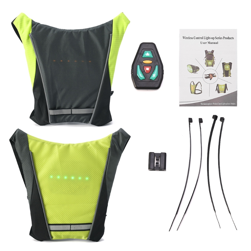 2019 New Usb Charging Led Light Warning Vest Backpack Mtb Bike Bag Safety Led Signal Vests Warning Accessories 100% Guarantee Bicycle Bags & Panniers Bicycle Accessories