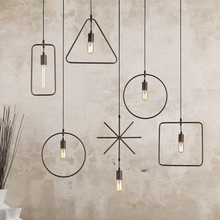One combo 5pcs different shape Retro Industrial led pendant Light kit for pub living room Restaurant Bar Study with led lamp