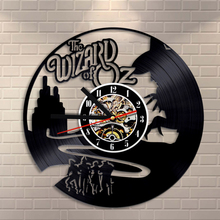 Free Shipping 1Piece The Wizard Of OZ Vinyl Record Clock Wall Art Home Decor Art Exclusive Home Modern Gift