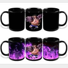 New Version ONE PIECE Color Changing Mug Monkey D Luffy Colour Change Coffee Mug