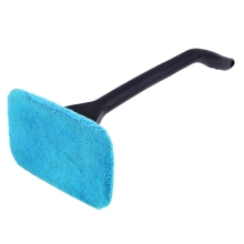 Window Cleaner Long Handle Car Wash Brush Dust Car Care Windshield Shine Blue