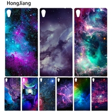 Buy HongJiang colorful space galaxy universe cover phone Case sony xperia z2 z3 z4 z5 mini plus aqua M4 M5 E4 E5 C4 C5 for $1.99 in AliExpress store
