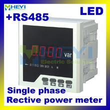 Factory direct sale LED AC digital panel Class 0.5 Single phase digital reactive power meter with RS485(China)