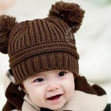 Fashion Brand Winter Autumn Knitted Newborn Crochet Baby Hat Girls Boys Wool Cap Children Beanie Infant Toddlers Sweater Knit