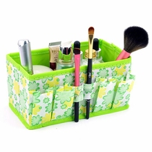 2017 Large Capacity Foldable Multifunction Make Up Cosmetics Storage Box Container Bag Dresser Desktop Cosmetic Makeup Organizer(China)