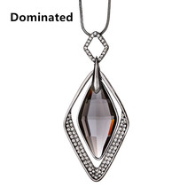 2016 Fashion Pendant Long Necklace Female Winter Sweater Chain Length All-match Clothes Pendant Accessories(China)