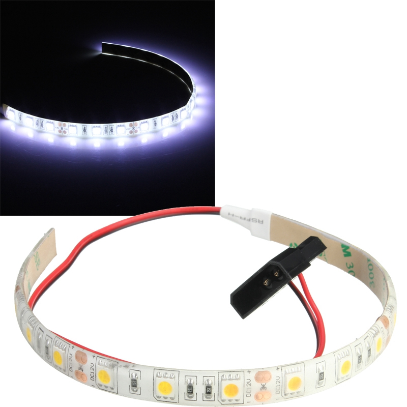 60cm Waterproof LED Strip 5050 SMD DC12V 18 LED Flexible LED Case Strips Tape Light for PC Computer Case
