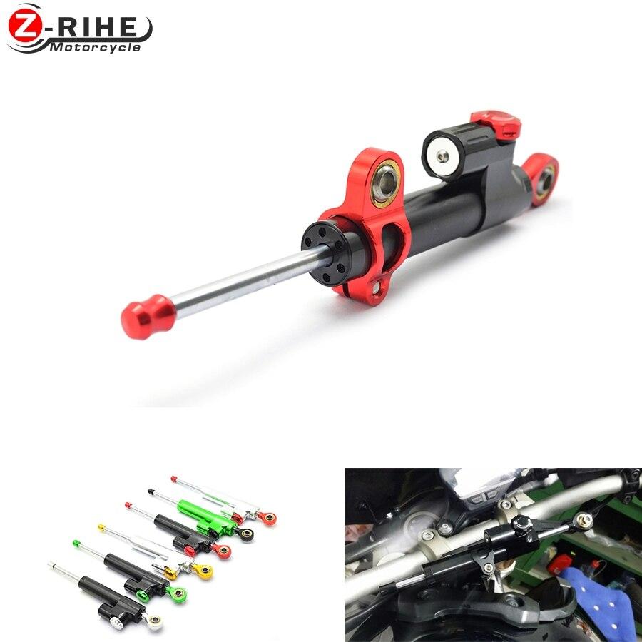 Motorcycle moto CNC Damper Steering StabilizerLinear Reversed Safety Control MT-07 MT-09 YZF R1 R6 Z800 Z750 Z1000 ER6N z900 300<br>
