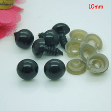 10mm Black Safety Eyes / Plastic Doll eyes Handmade Accessories For Bear Doll Animal Puppet Making - 100 pairs/lot