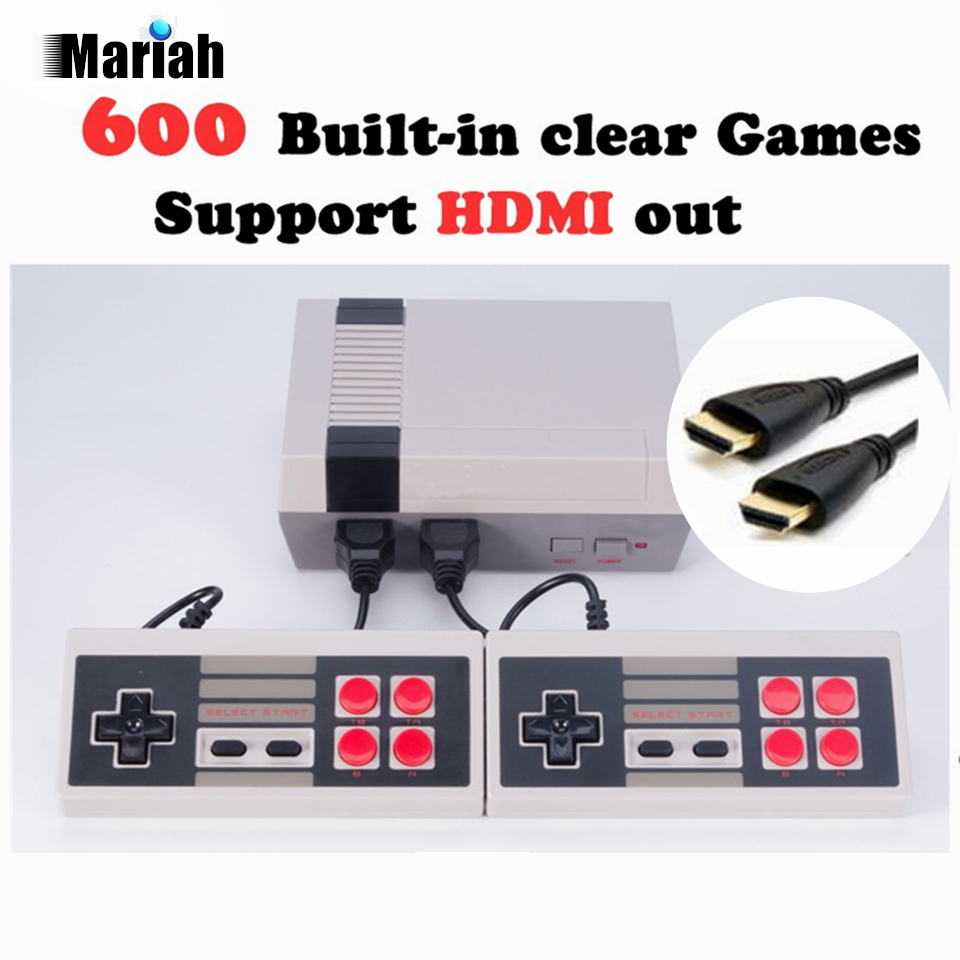 Retro Family HDMI Mini TV Game Console HD Video Classic Handheld Game Players Built-in 600 Games HD Output Dual Gamepad Controls<br>