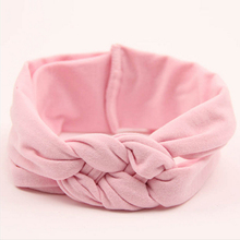 1PCS New Fashion Headwear Confortable Soft Cute Girl Kids Hair Accessories Hairband Turban Knitted Knot Cross Headband(China)