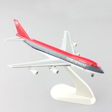 1:500 scale mini Schuco star jets Northwest Airlines Boeing 747 Airplane aircraft metal diecast models gift Toys for collection(China)