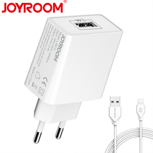 JOYROOM Mobile Phone Travel Wall Charger Adapter 5V/2.4A Universal USB EU Plug Free Micro USB & For iphone Cable 1M(China)