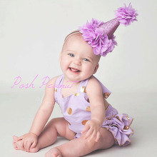 1PC Boys Girls Birthday Gifts Crown Hat Headband Lace Chiffon Flowers Hairband Elastic Headwear Kids Children Hair Accessories