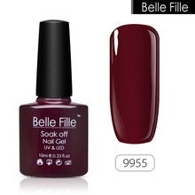 BELLE FILLE UV Nail Gel Polish vernis semi permanent Base Top Coat Soak-off lacquer Professional Gel Nail Art Bling manicure