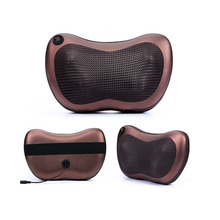 2016 New Massagers Heated Cushion Massager Heat Muscle Back Shiatsu Pillow Neck Massage Cushion Full Body Massager For Car Home