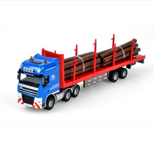 1:50 Kaidiwei Diecast & ABS Alloy Log Transporter Model Car Toys Timber Truck Transport Vehicle Cars Toys For Collection Boys(China)