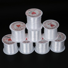 White Multi-size Stretch Fish Line Wire Nylon String Beading Cord Thread for Jewelry Necklace Making Accessories(China)