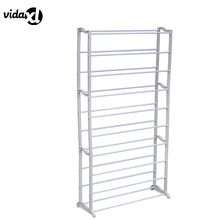 vidaXL 2017 New Home Standing 10 Tier Shoe Rack Minimalist Modern Assembly Shoe Cabinet Simple Space Saving Home Decor Portable(China)