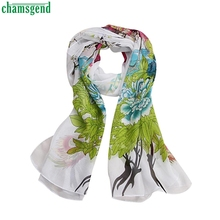 Trendy Style New Hot Spring Summer Lady Women Chiffon Soft Neck Scarf Shawl Scarves Stole Wraps Neck Scarves Gift 1PC